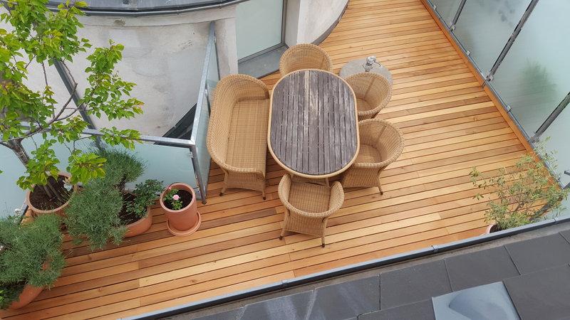 terrassendielen zeder 100 rift halbrift parkettachse wien. Black Bedroom Furniture Sets. Home Design Ideas